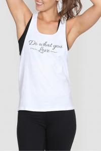 Women's fitness Love singlet white